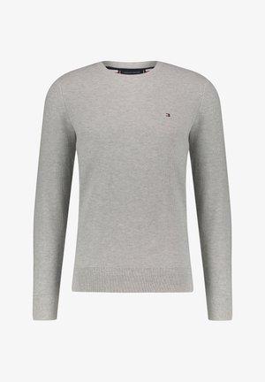 HONEYCOMB CREW NECK - Sweter - grau