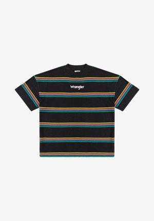 Print T-shirt - worn black