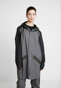 Rains - LIMITED EDITION COLOR BLOCK LONG - Regenjas - charcoal/black - 3