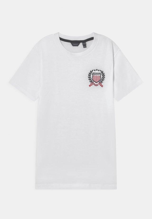 MEDIUM CREST - T-shirt con stampa - white