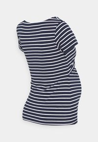 Anna Field MAMA - NURSING FUNCTION t-shirt - T-shirt print - dark blue/white - 1