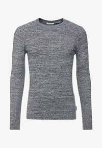 YOURTURN - FINE TWISTED CREWNECK - Strickpullover - mottled dark grey - 3