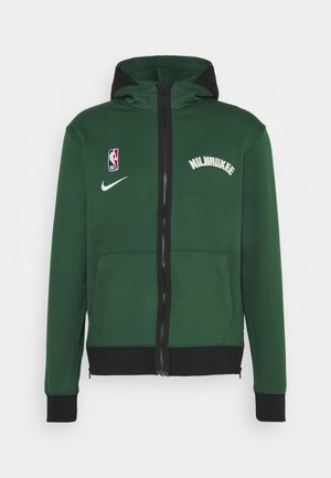 NBA MILWAUKEE BUCKS THERMAFLEX SHOWTIME FULL ZIP HOODIE - Veste de survêtement - fir/black/white