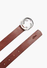s.Oliver - MIT RING-SCHLIESSE - Belt - brown - 1