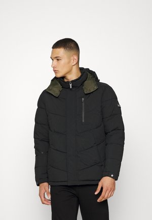 HOODED WATER REPELLENT PUFFER JACKET - Winter jacket - black