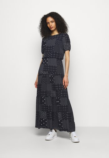 PRINTED DRESS - Day dress - navy/colonial