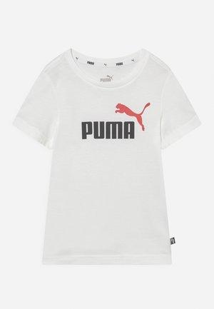 LOGO UNISEX - Printtipaita - white/high risk red
