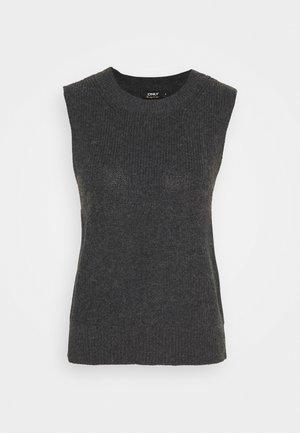 ONLPARIS LIFE VEST - Jersey de punto - dark grey melange