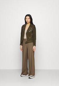 Deadwood - RIVER - Leather jacket - gobi - 1