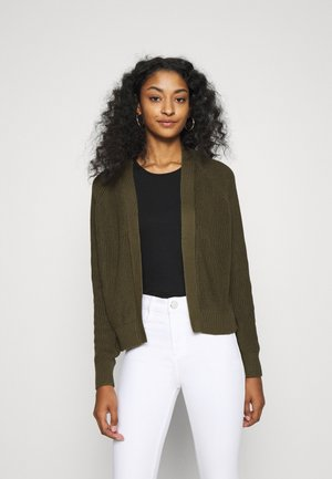 BASIC- SHORT OPEN CARDIGAN - Cardigan - olive night