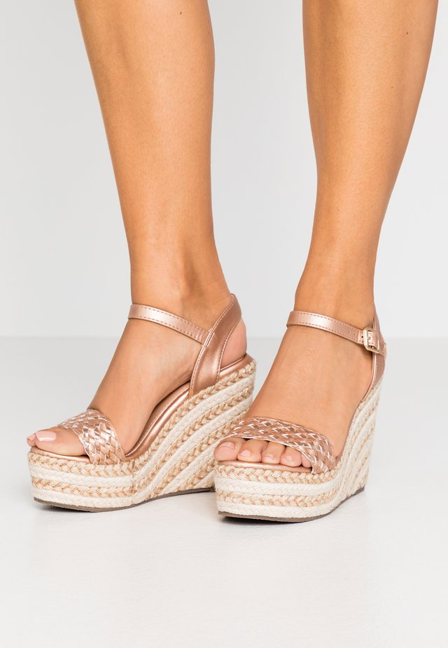 High heeled sandals - rosegold