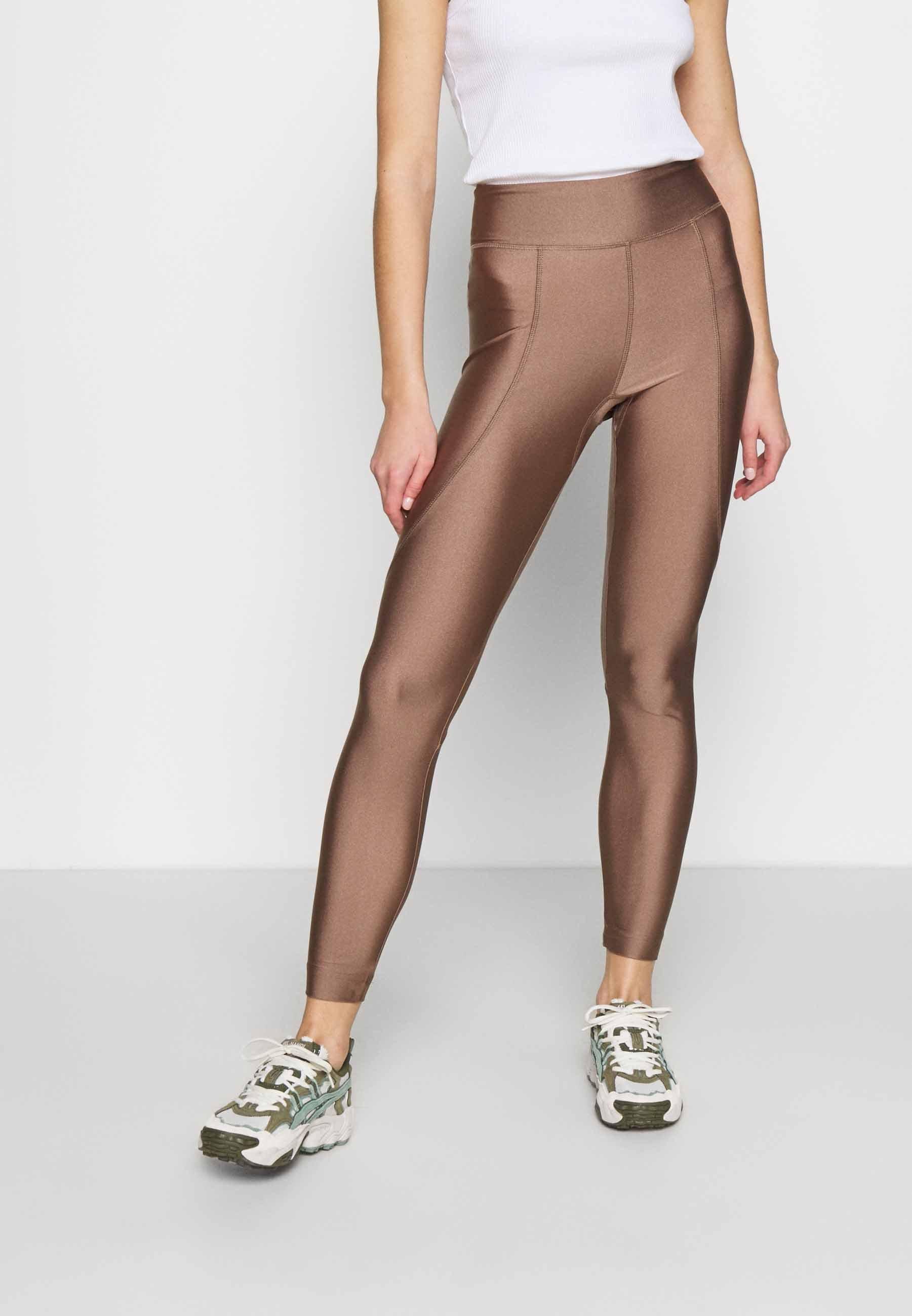 Damen OVERLOCKED PANELLED SHINE - Leggings - Hosen