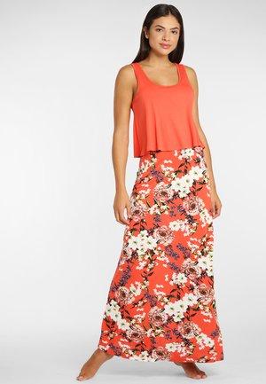 Maxi dress - koralle-bedruckt