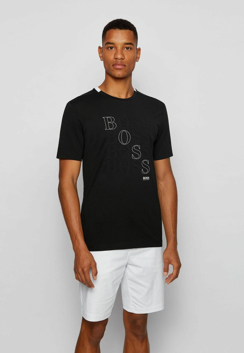 BOSS - T-shirt imprimé - black
