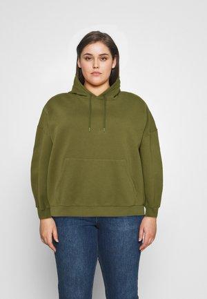 DROP SHOULDER HOODIE - Sweatshirt - khaki