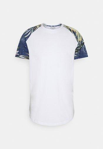 JJFLOWER TEE CREW NECK - Print T-shirt - navy blazer