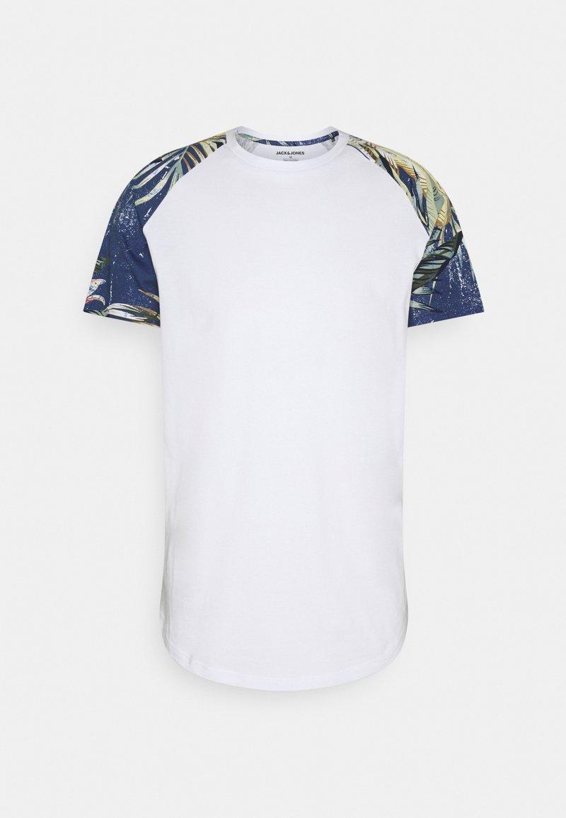 Jack & Jones - JJFLOWER TEE CREW NECK - T-shirt med print - navy blazer