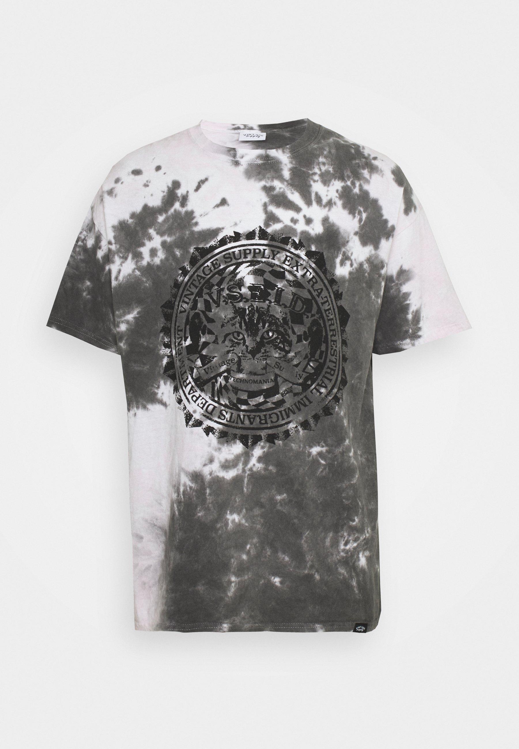 Men CAT TIE DYE TEE - Print T-shirt