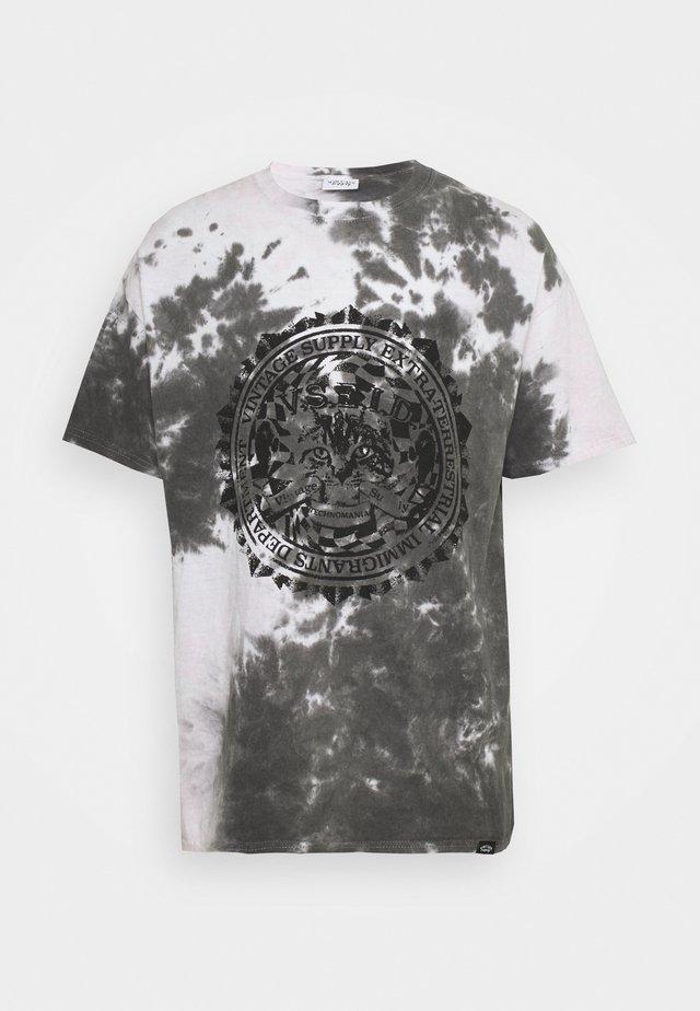 CAT TIE DYE TEE - Print T-shirt - dark grey