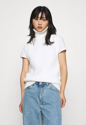ROLL NECK VEST - Jumper - off white
