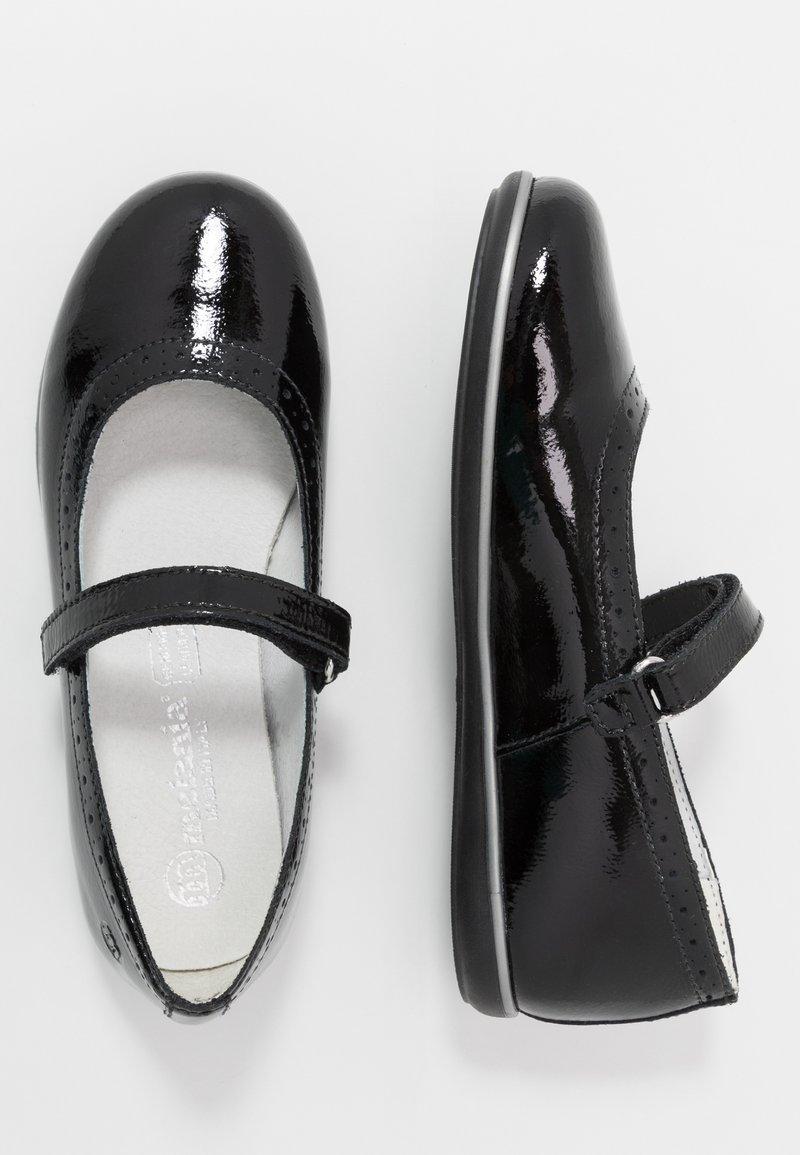 Melania - Ankle strap ballet pumps - black