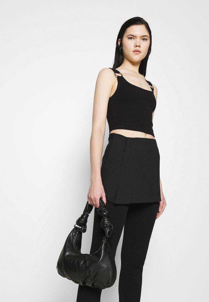 Weekday - SKIRT - Mini skirt - black
