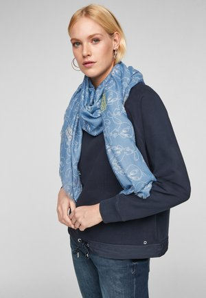 Scarf - light blue placed print