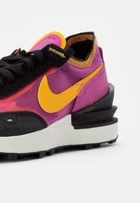 Nike Sportswear - WAFFLE ONE - Sneaker low - active fuchsia/univ gold-black-coconut milk-mtlc silver-orange - 3