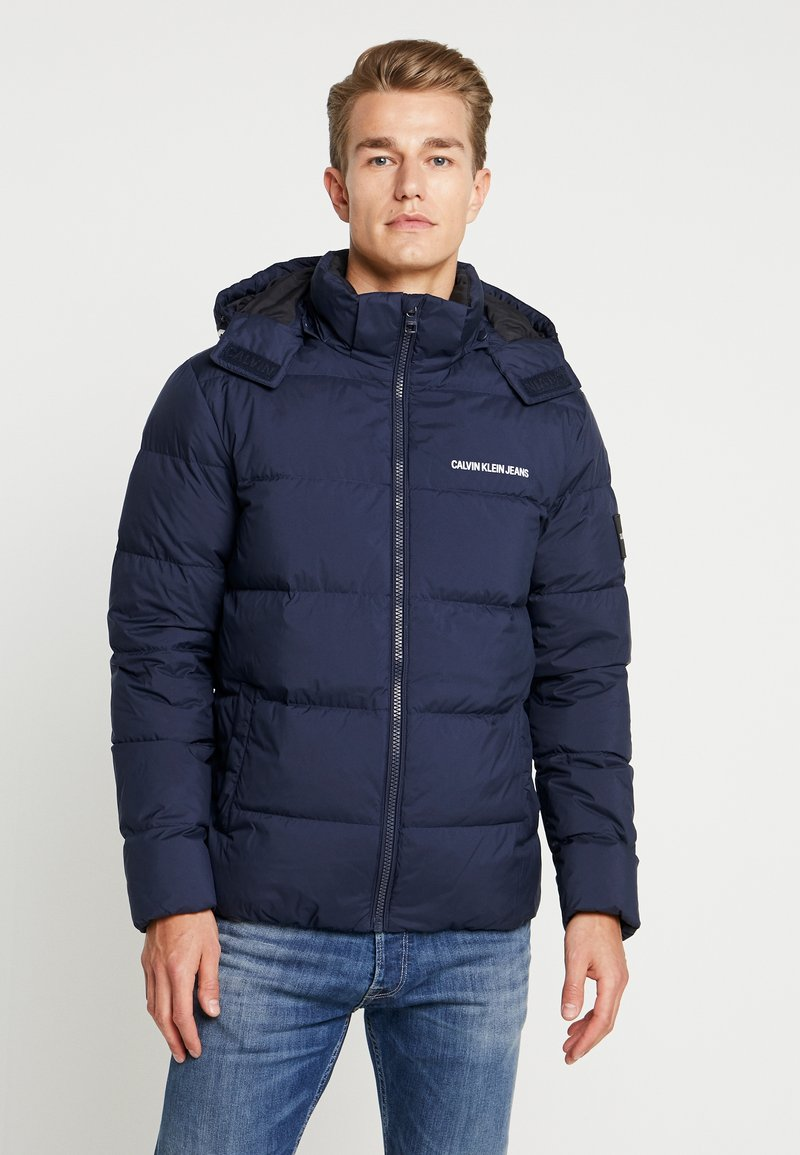 Calvin Klein Jeans - HOODED PUFFER - Down jacket - night sky