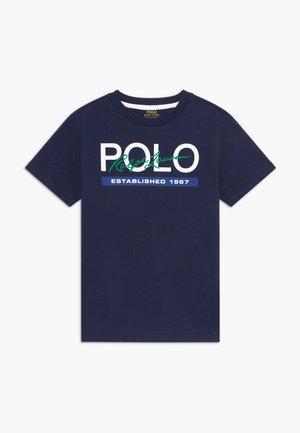 Print T-shirt - newport navy
