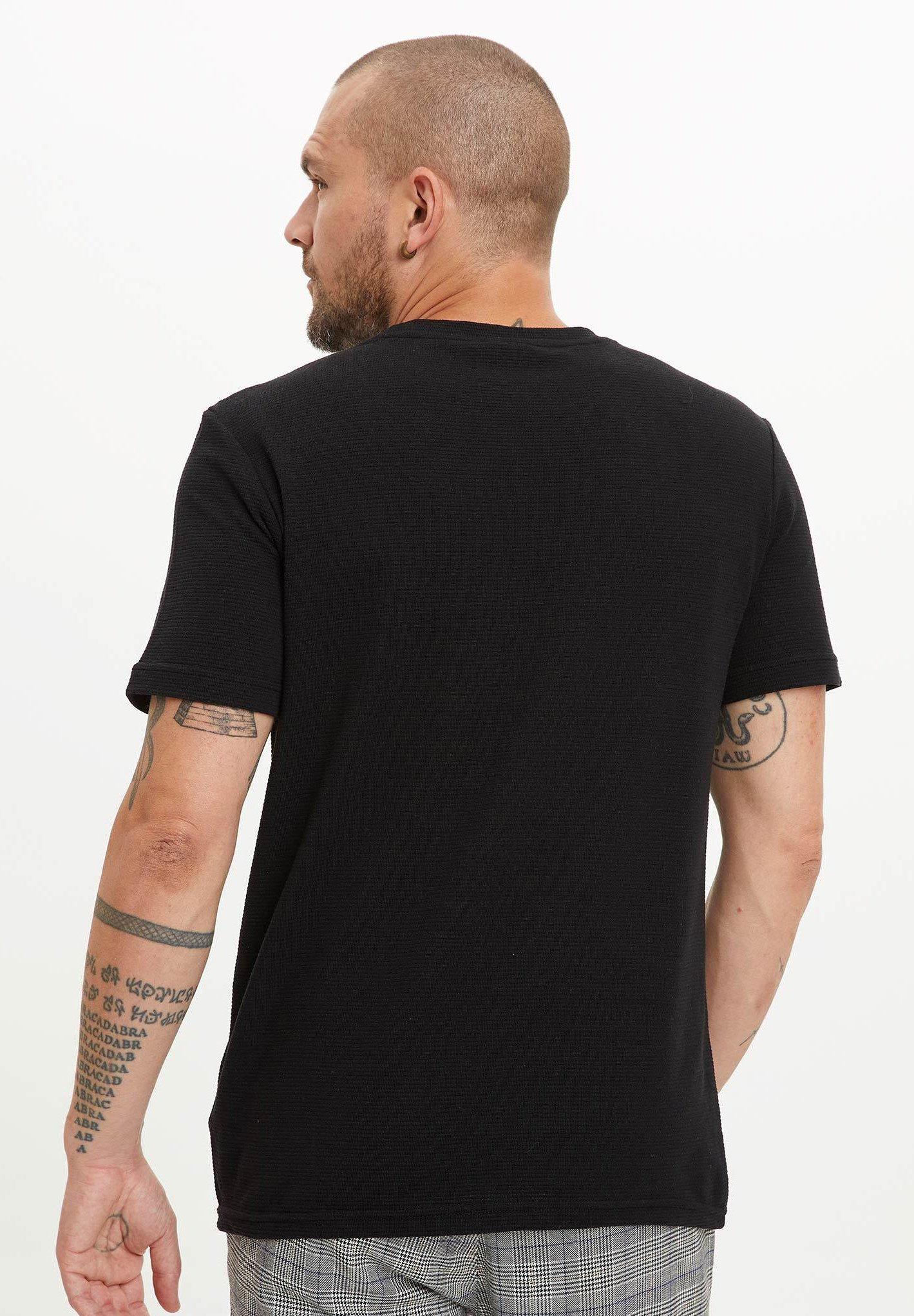 DeFacto Basic T-shirt - black 5UIhf