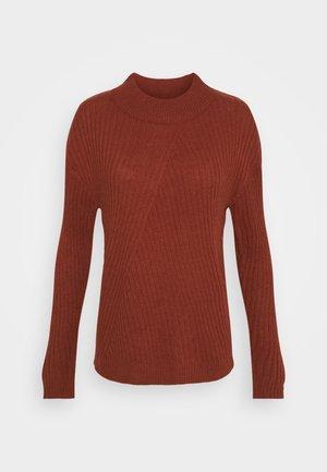 JDYZOFRA STRUCTURE - Sweter - russet brown
