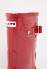 Hunter ORIGINAL - ORIGINAL SHORT GLOSS VEGAN - Wellies - Holínky - middle red - 6