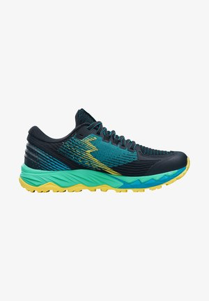 Trainers - black / scuba blue