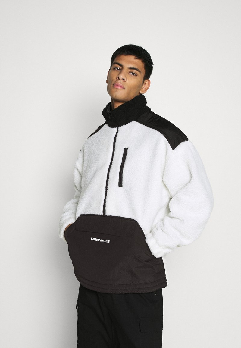 Mennace - HALF ZIP PANELLED - Summer jacket - white