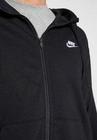 Nike Sportswear - M NSW FZ FT - Felpa con zip - black/white - 4