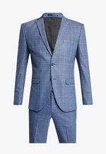 SLHSLIM MYLOMORY CHECK SUIT - Oblek - medium blue/light blue