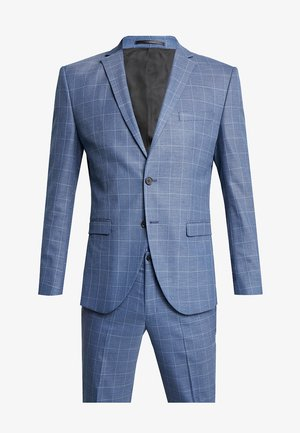 SLHSLIM MYLOMORY CHECK SUIT - Puku - medium blue/light blue