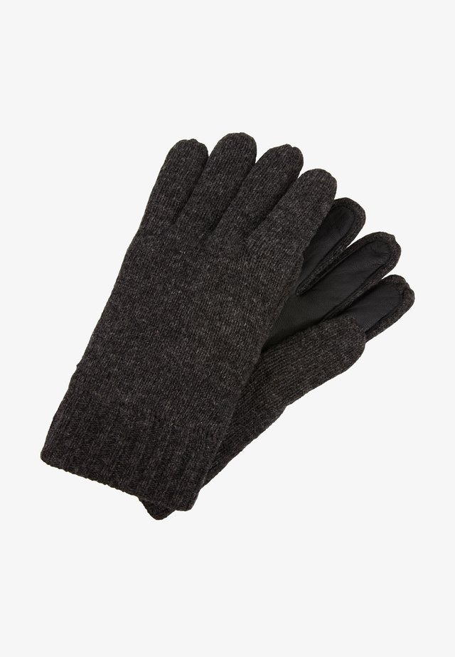 GLOVES WITH TOUCH SCREEN FINGER - Gloves - dark grey melange