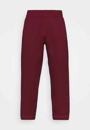 PANT - Tracksuit bottoms - dark beetroot/metallic silver