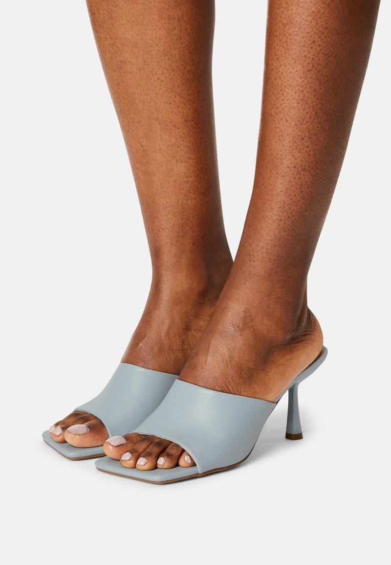 Missguided - SQUARE TOE MULES - Sandalias - blue