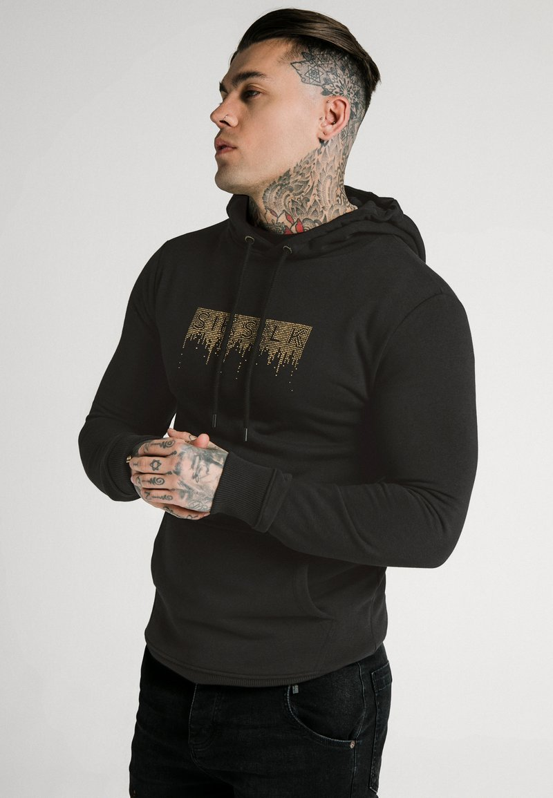 SIKSILK - CREEP OVERHEAD HOODIE - Sweatshirt - black