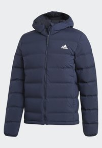 adidas Performance - HELIONIC SOFT HOODED DOWN JACKET - Down jacket - blue - 10
