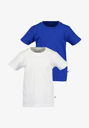 2 PACK - Basic T-shirt -  weiss  royal