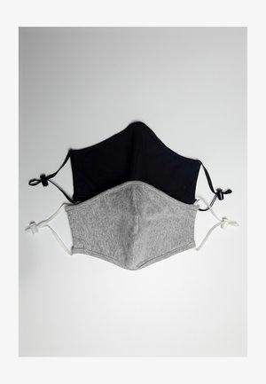 2 PACK - Stoffen mondkapje - black/grey