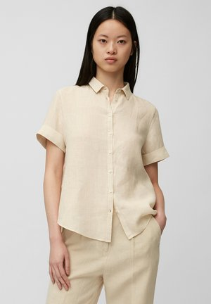 Button-down blouse - summer taupe