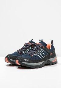 CMP - RIGEL LOW TREKKING SHOE WP - Hiking shoes - blue/giada/peach - 3