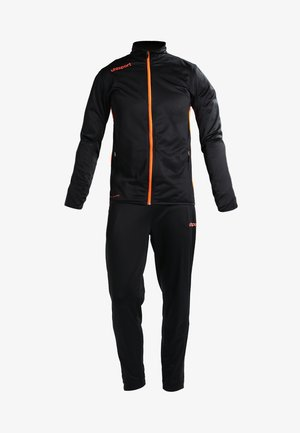 ESSENTIAL CLASSIC - Tracksuit - schwarz/fluorescent orange
