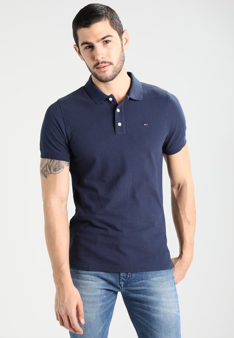Tommy Jeans - ORIGINAL FINE SLIM FIT - Polo - black iris