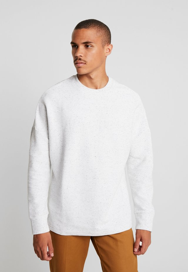CUT ON SLEEVE NAPS INTERLOCK CREW - Felpa - lightgrey
